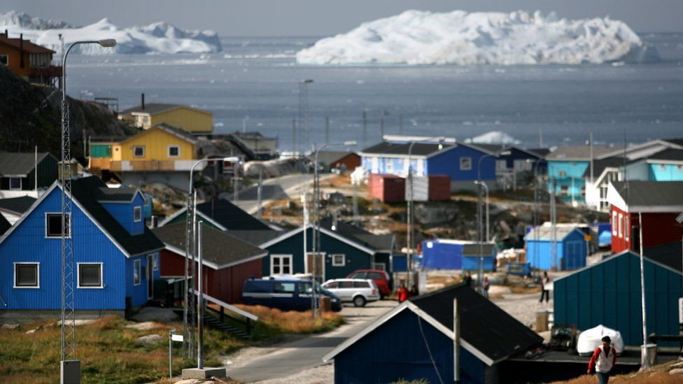 The town of IIulissat, Greenland