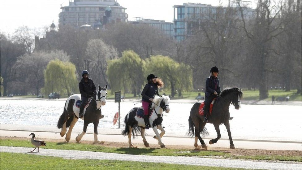 People horse riding in Hyde Park