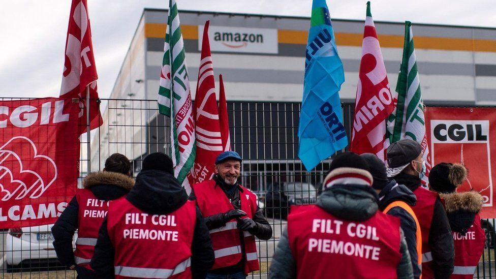 Italian Amazon workers