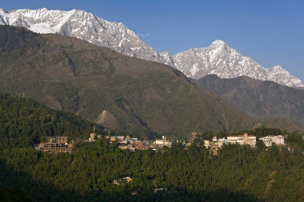 The Dalai Lama's home in exile, McLeod Ganj, near Dharamsala