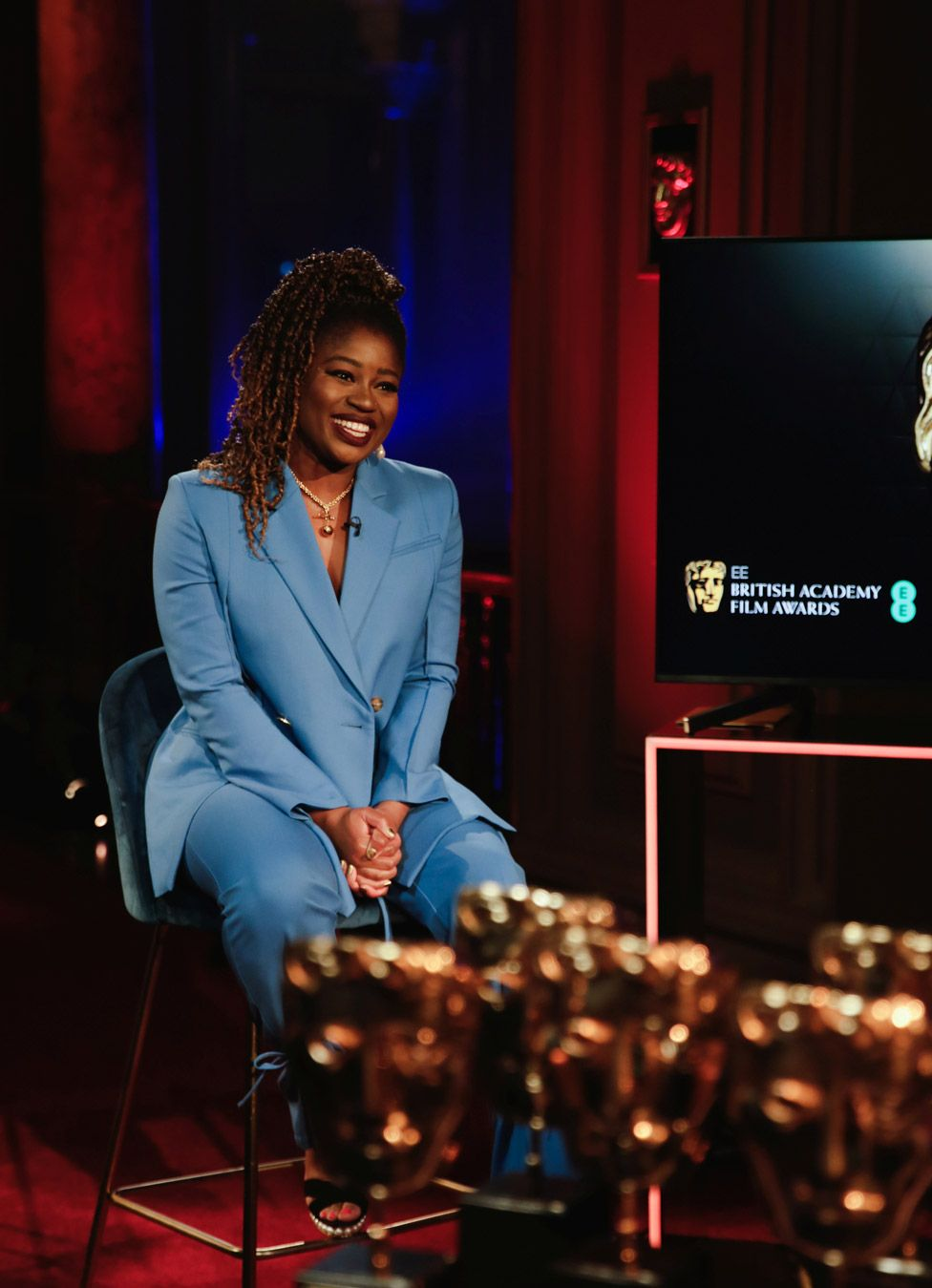 BBC Radio 1 DJ Clara Amfo announced eight of the craft winners in the first half of the ceremony on Saturday