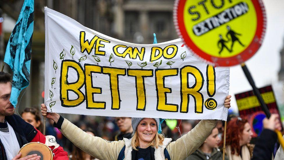 Climate protest in Edinburgh