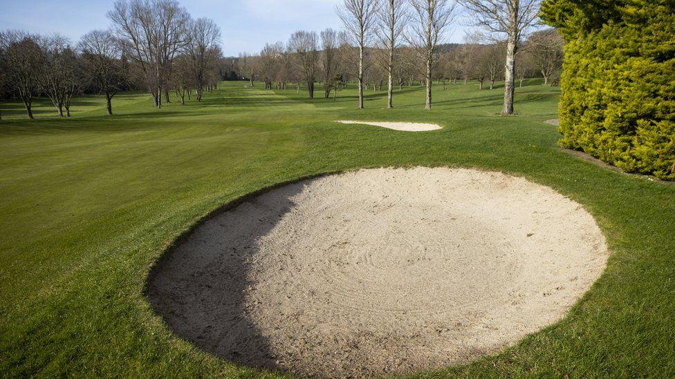 An empty golf course in Belfast