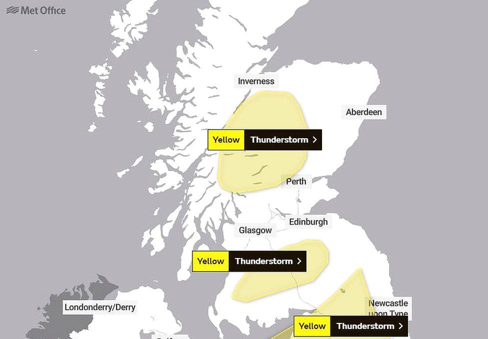 The updated Met Office warning for Wednesday
