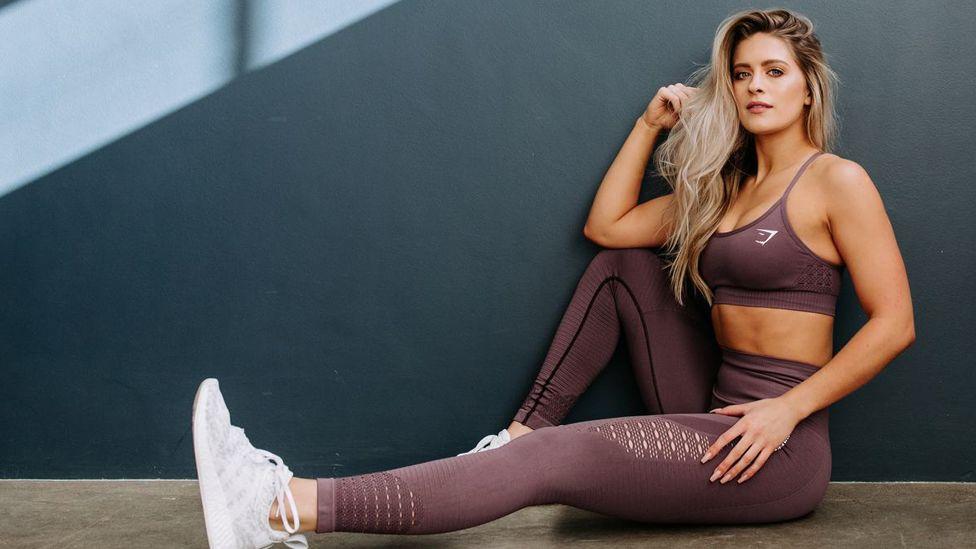 Model wearing Gymshark clothing