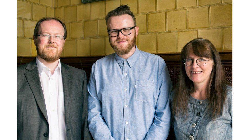 Beirniaid y gwobrau Cymraeg: Llion Pryderi Roberts, Huw Stephens a Lleucu Roberts
