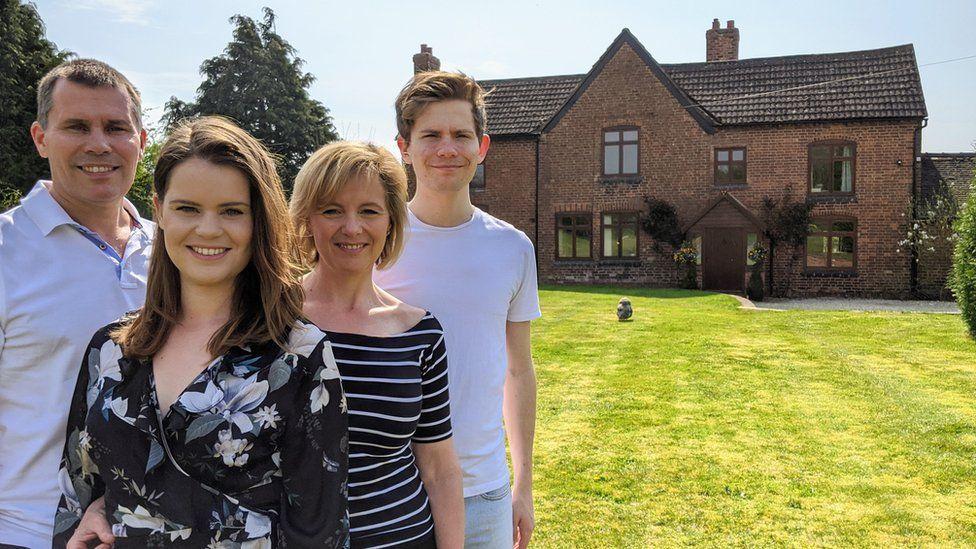 Nigel, Jodie, Jane and Sam Chaloner.