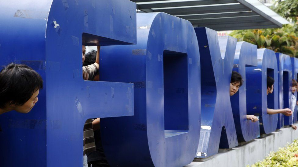 Foxconn sign in China