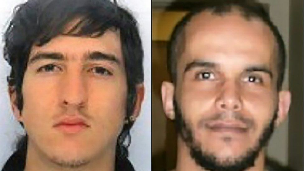 Clement B (L) and Mahiedine M (handouts from French police)