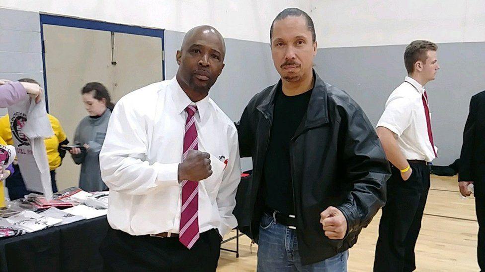 Photo of Randall Ephraim (left) with another instructor, Kenny Buffaloe