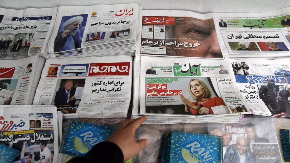 Iranian daily newspapers react to US President Donald Trump's decision to abandon the Iran nuclear deal (9 May 2018)