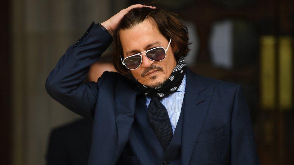 Johnny Depp at London's High Court on 14 July