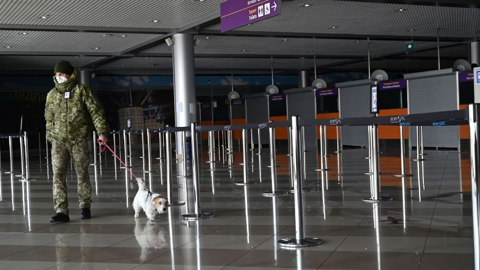 Boryspil International airport, empty