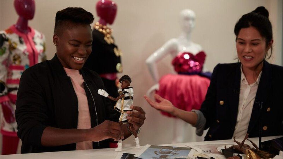 Nicola Adams and Barbie doll.