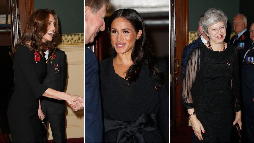 The Duchess of Cambridge, the Duchess of Sussex and Theresa May are all in attendance