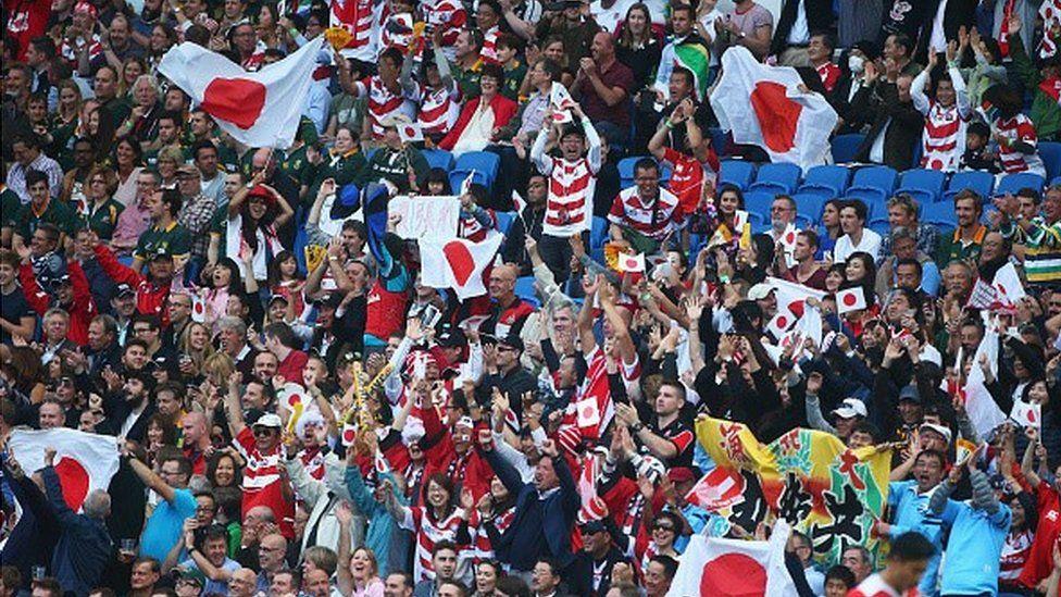 Japan fans v South Africa