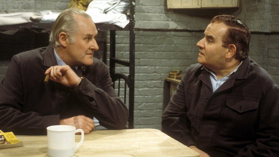 Peter Vaughan and Ronnie Barker in Porridge