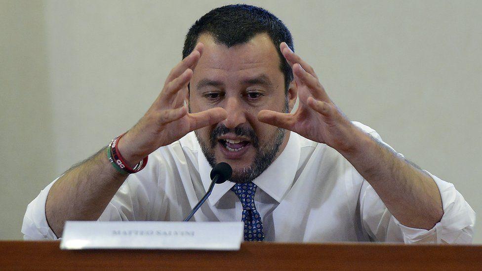 Matteo Salvini in Rome on 25 June