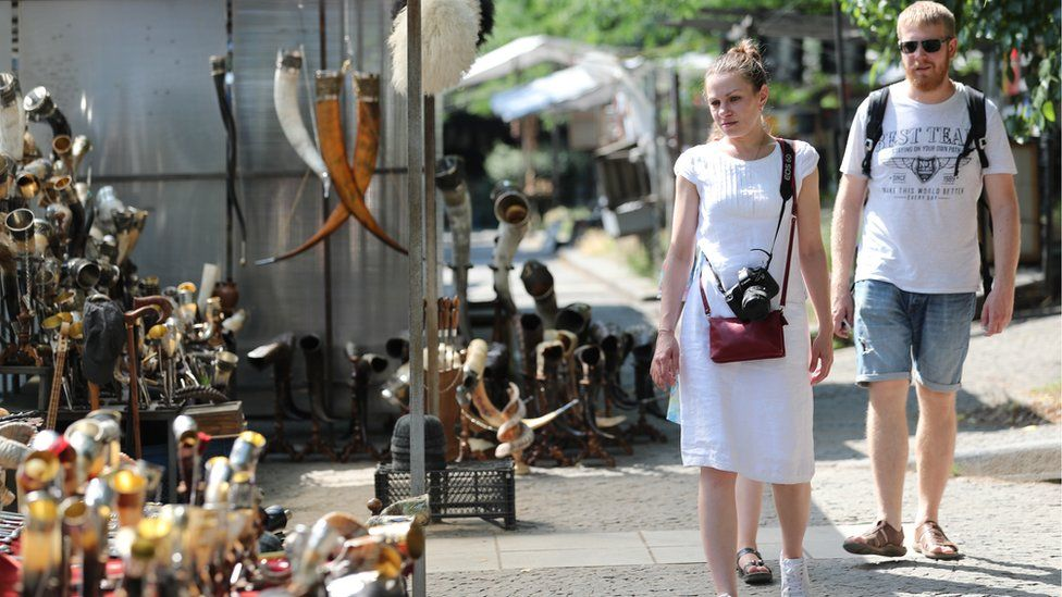 Tourists visit the old town of Tbilisi, Georgia 23 June 2019