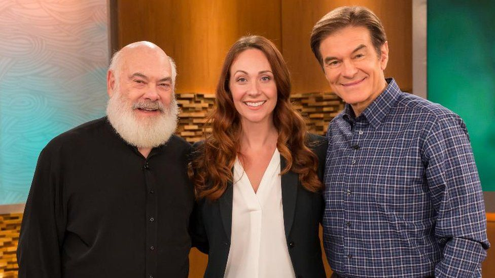 Grace appearing on US TV programme The Dr Oz Show