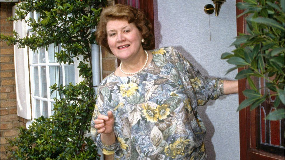 Patricia Routledge, in TV series Keeping Up Appearances