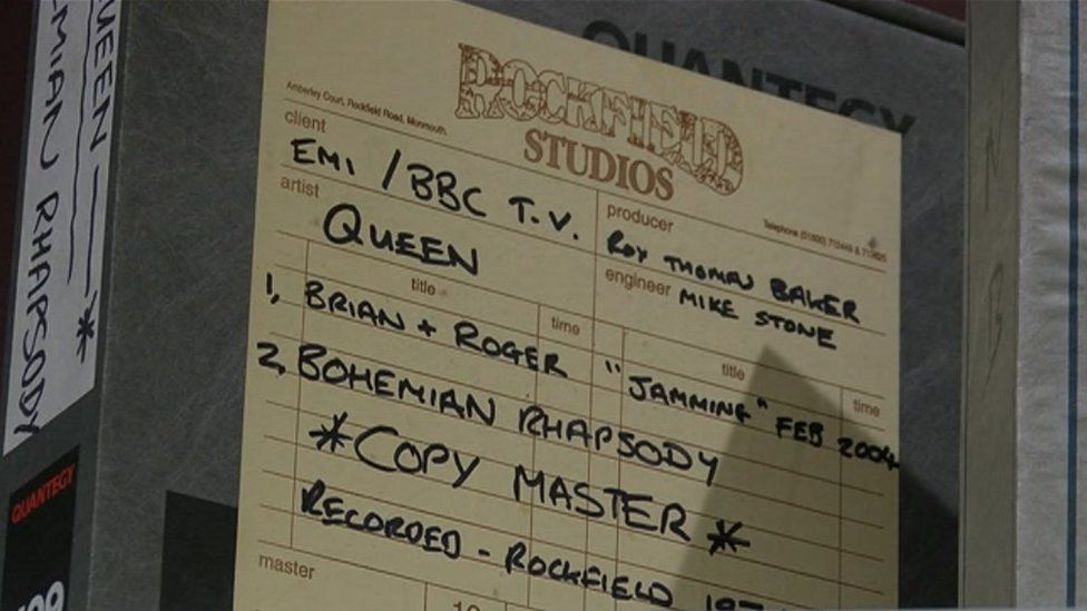 Rockfield Studios music log shows reference to Queen's Bohemian Rhapsody