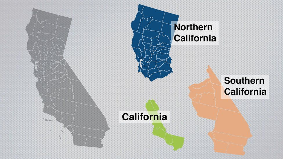 the California map