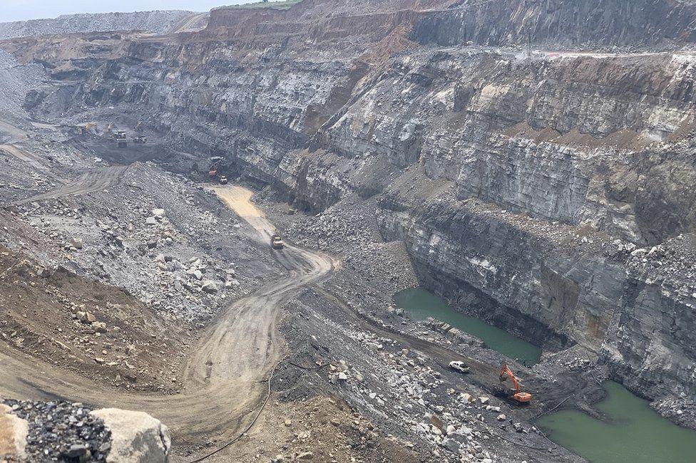 The opencast mine