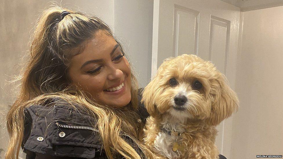 Melina Georgiou and her dog Nala