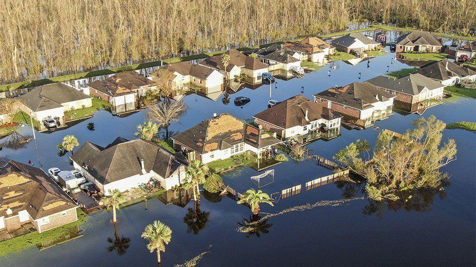 Devastation in LaPlace, Louisiana