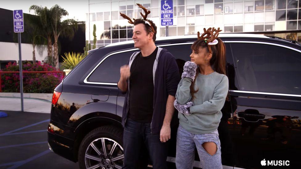 Seth MacFarlane and Ariana Grande