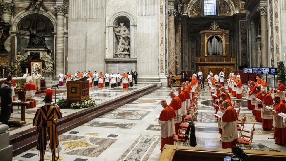 A consistory in the Vatican where the pope appointed new cardinals