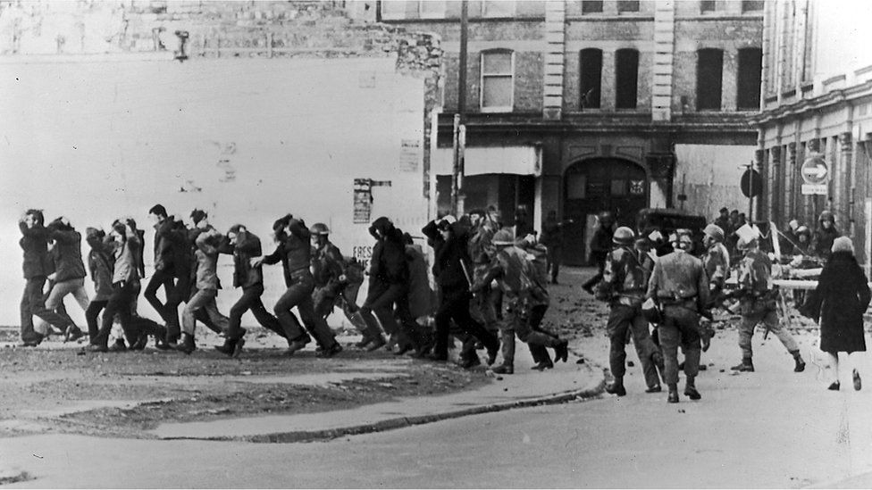 Bloody Sunday in Derry 1972