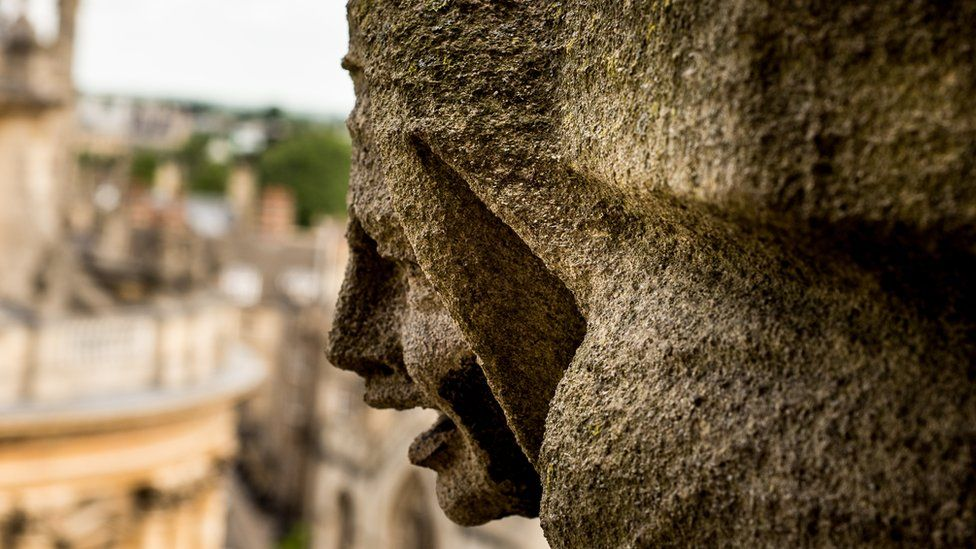 """""""A gargoyle from the viewing gallery of St Mary's Church with the Radcliffe Camera just in the background."""""""