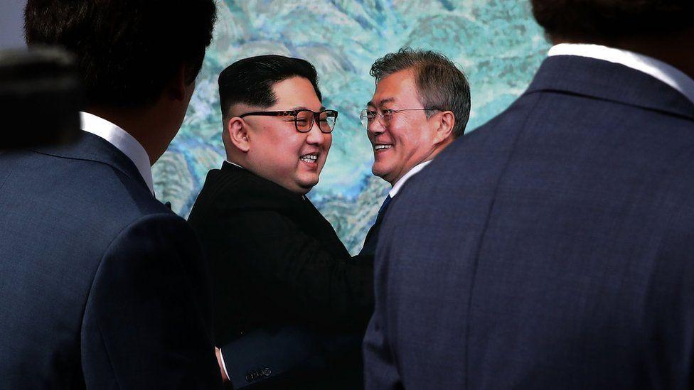 South Korean President Moon Jae-in and North Korean leader Kim Jong Un