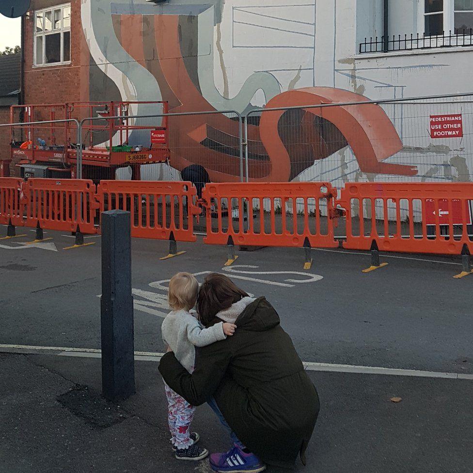 Street art at Midland Hotel, Cheltenham