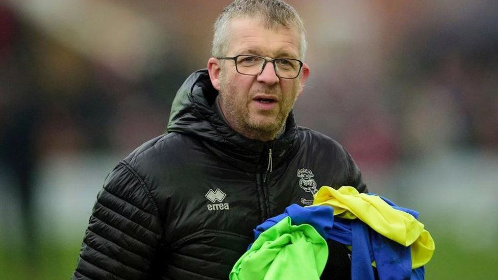 Lincoln City FC's kitman Terry Bourne