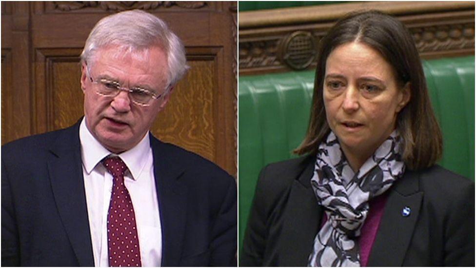 Tory MP David Davis and the SNP's Carol Monaghan