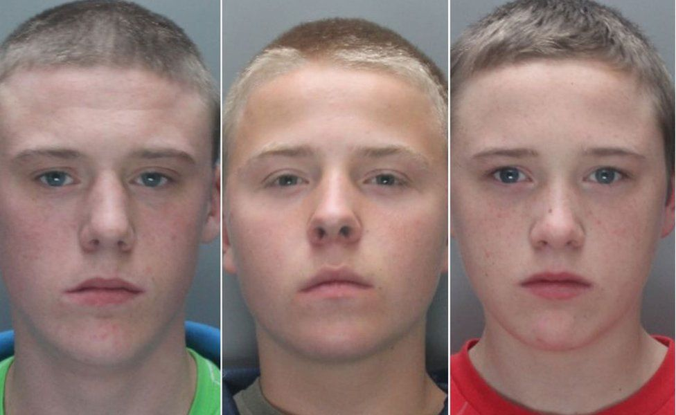 Connor and Brandon Doran, then aged 16 and 14, and their friend Simon Evans, then 14