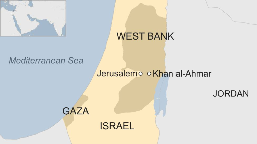 Map of Israel and the occupied West Bank