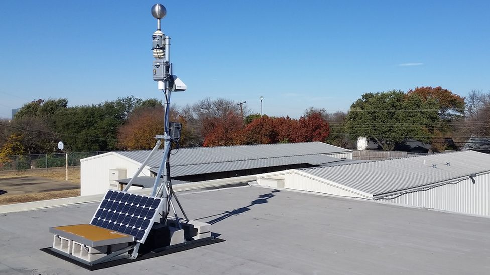 Air quality monitor on roof