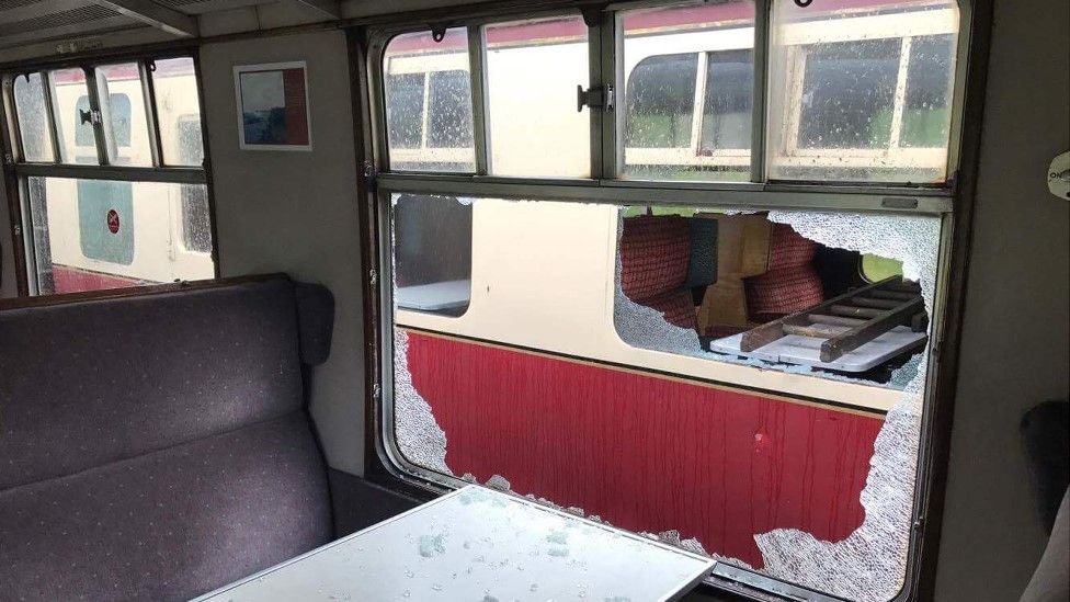 Damage to the train