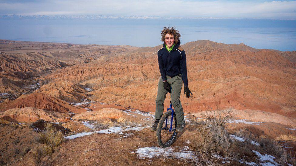 Ed Pratt on his round the world unicycle challenge