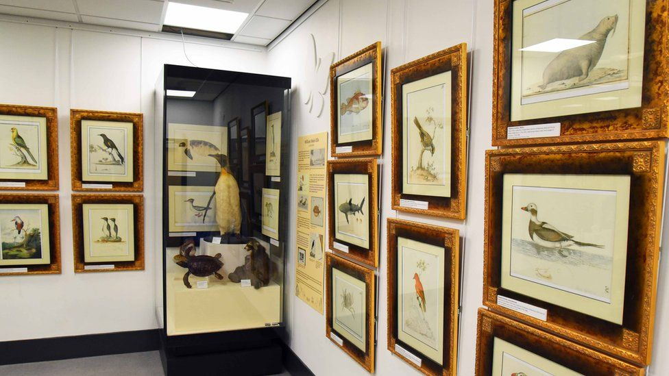 Exhibition space in the Captain Cook Birthplace Museum