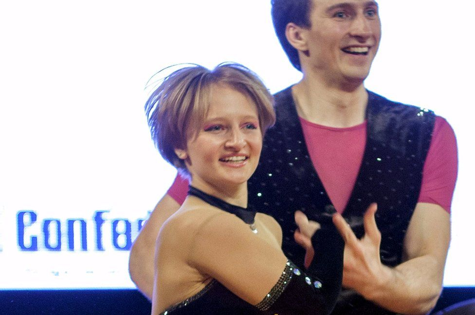 Mr Putin's daughter Katerina Tikhonova dancing rock 'n' roll