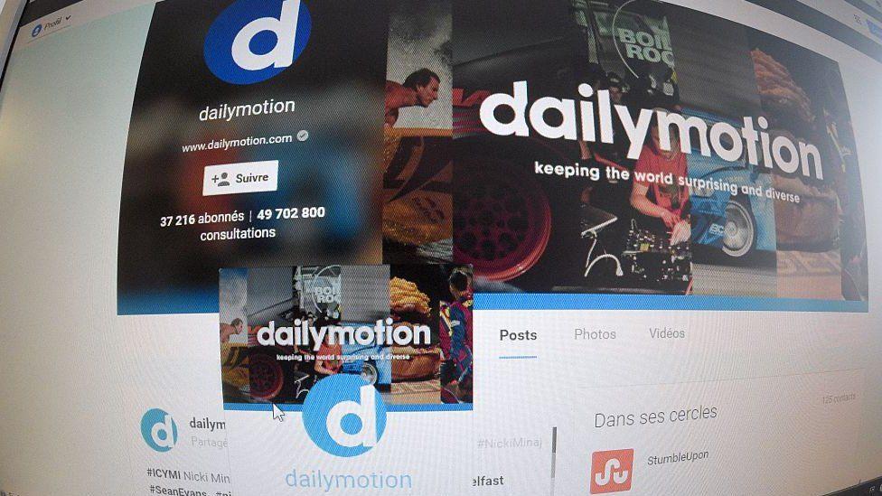 Dailymotion homepage