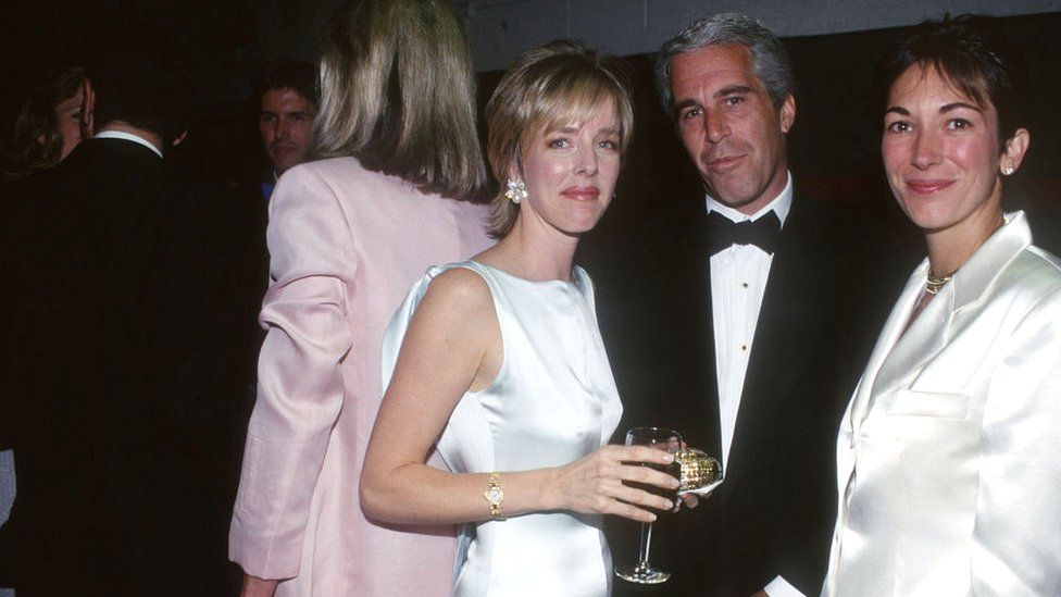 Mack, Jeffrey Epstein and Ghislaine Maxwell at a social event in 1995 in New York