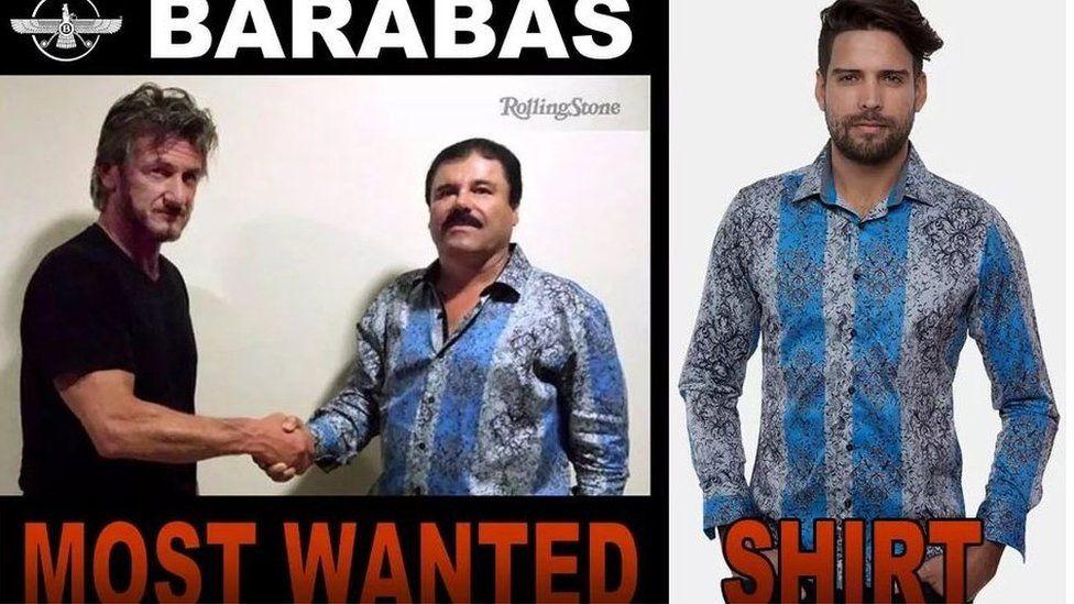 A screen grab of the website of Barrabas clothing retailer