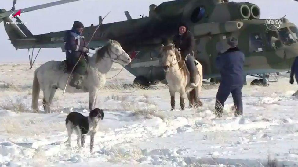 Local residents in Dzhezkazgan