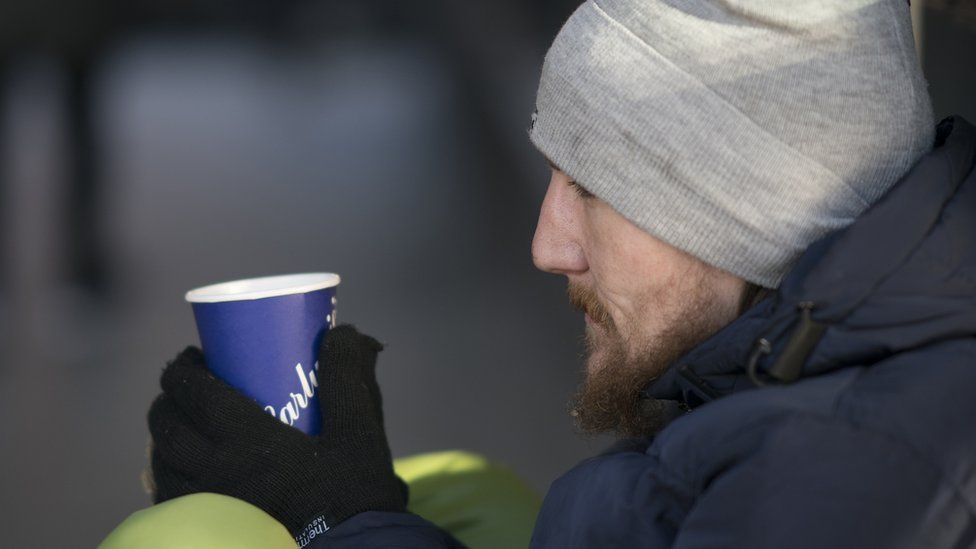 Crisis charity says a hot drink or food can be a big help to a homeless person